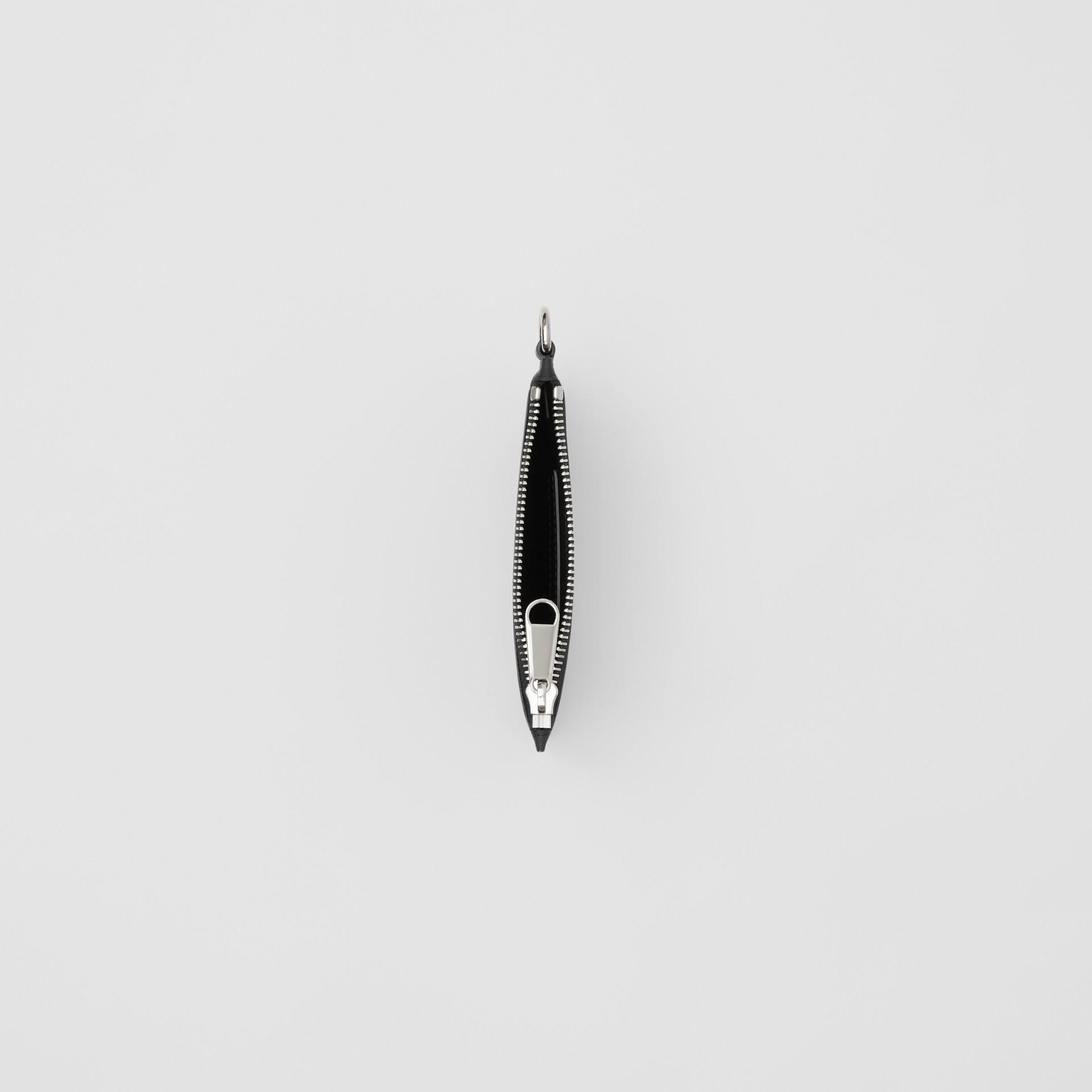 Monedero a cuadros London Checks con cremallera y logotipo de estilo gráfico (Gris Marengo Oscuro) - Hombre | Burberry - imagen de la galería 3