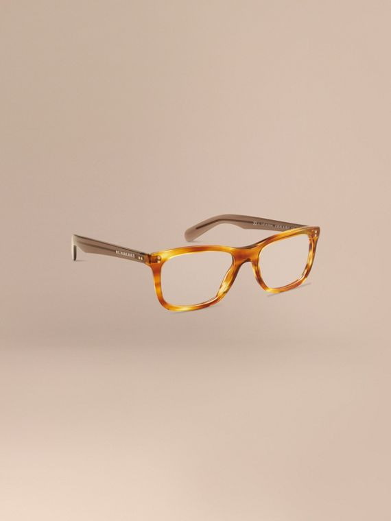 Square Optical Frames Tortoise Amber