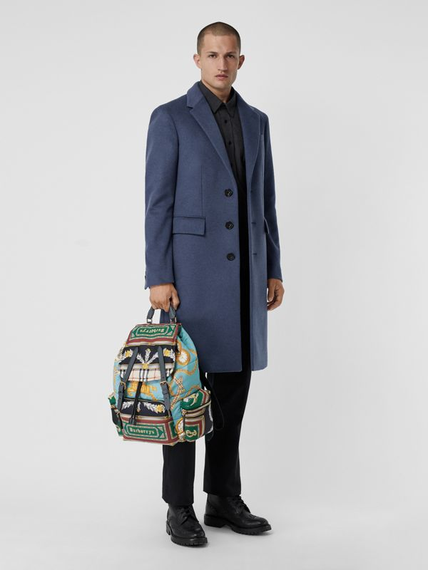The Large Rucksack in Archive Scarf Print in Pale Stone Blue - Men | Burberry - cell image 3