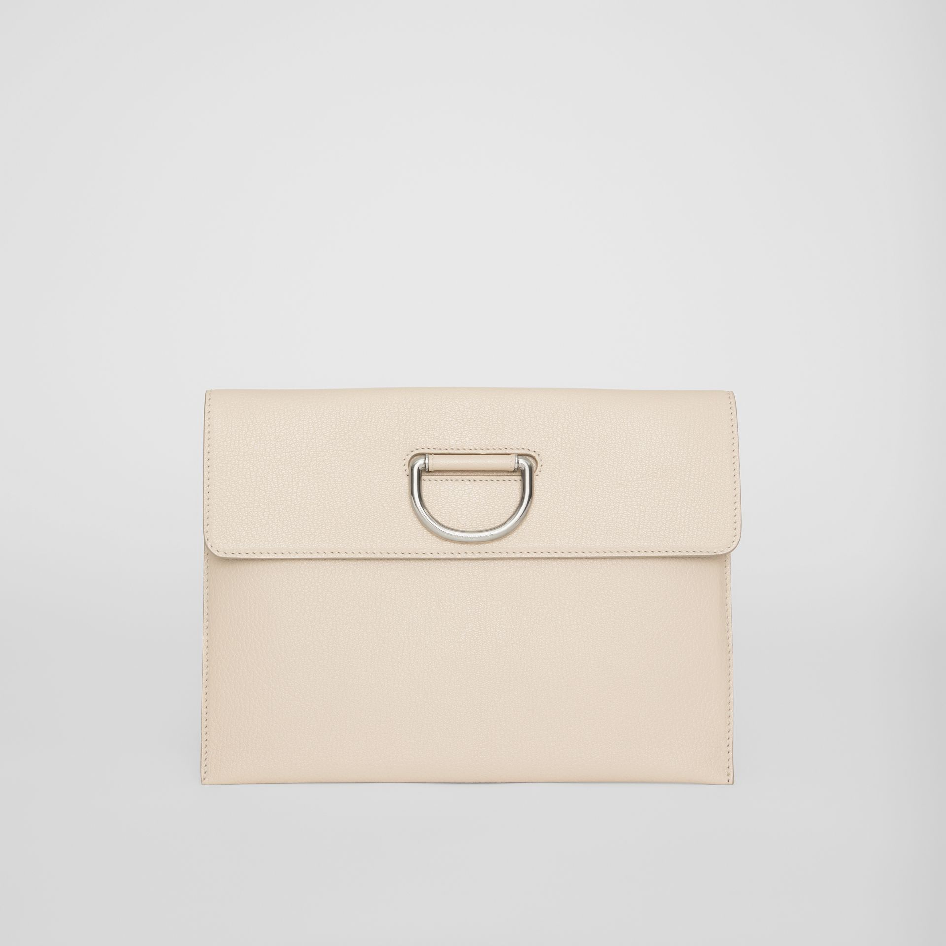 D-ring Leather Pouch in Stone - Women | Burberry - gallery image 0