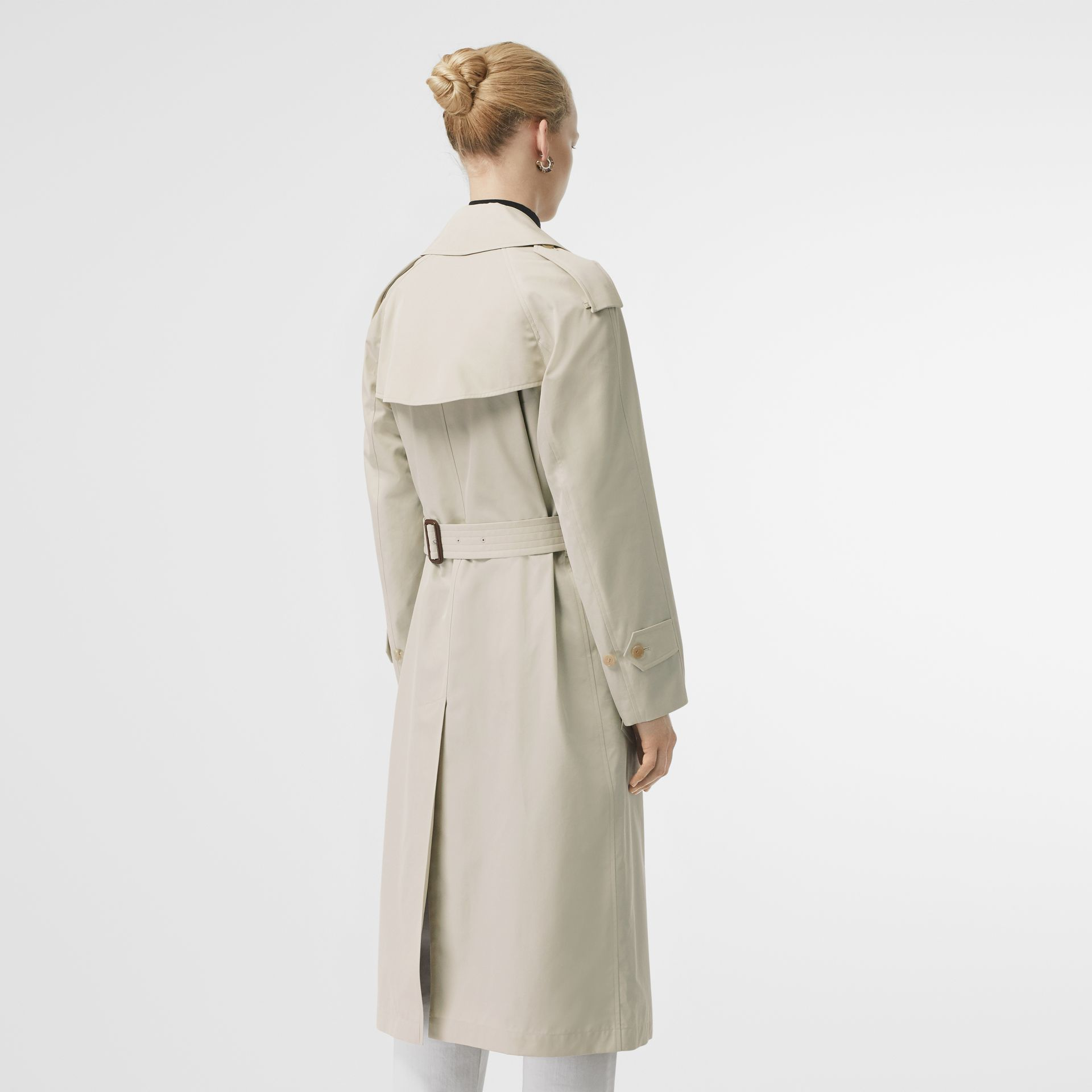 Striped Ribbon Cotton Gabardine Trench Coat in Stone - Women | Burberry United States - gallery image 2