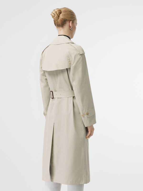 Striped Ribbon Cotton Gabardine Trench Coat in Stone - Women | Burberry United States - cell image 2