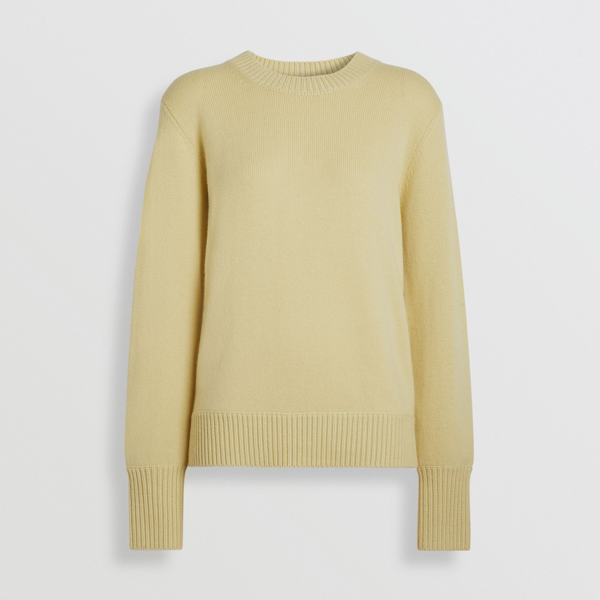 Archive Logo Appliqué Cashmere Sweater in Dusty Yellow - Women | Burberry Canada - gallery image 3