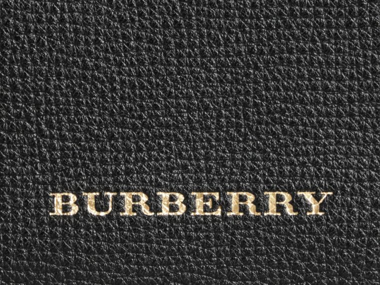 The Canter piccola in pelle con motivo House check (Nero) - Donna | Burberry - cell image 1