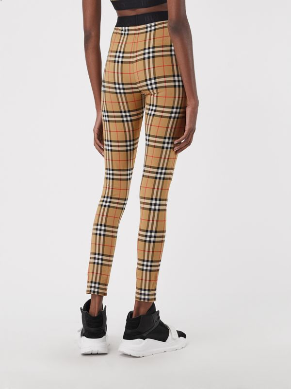 Legging à motif Vintage check (Jaune Antique) - Femme | Burberry Canada - cell image 2