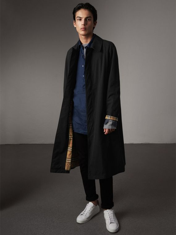 The Brighton – Longline Car Coat in Black - Men | Burberry