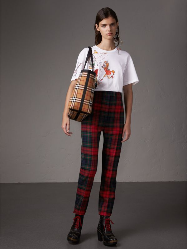 The Medium Giant Tote mit Vintage Check-Muster (Antikgelb/hellrot) | Burberry - cell image 2