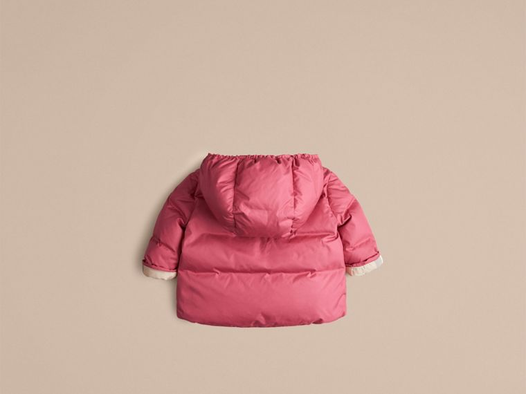 Camelia pink Check-Lined Puffer Jacket Camelia Pink - cell image 2