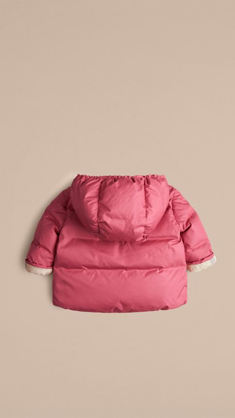 Camelia pink Check-Lined Puffer Jacket Camelia Pink - Image 3