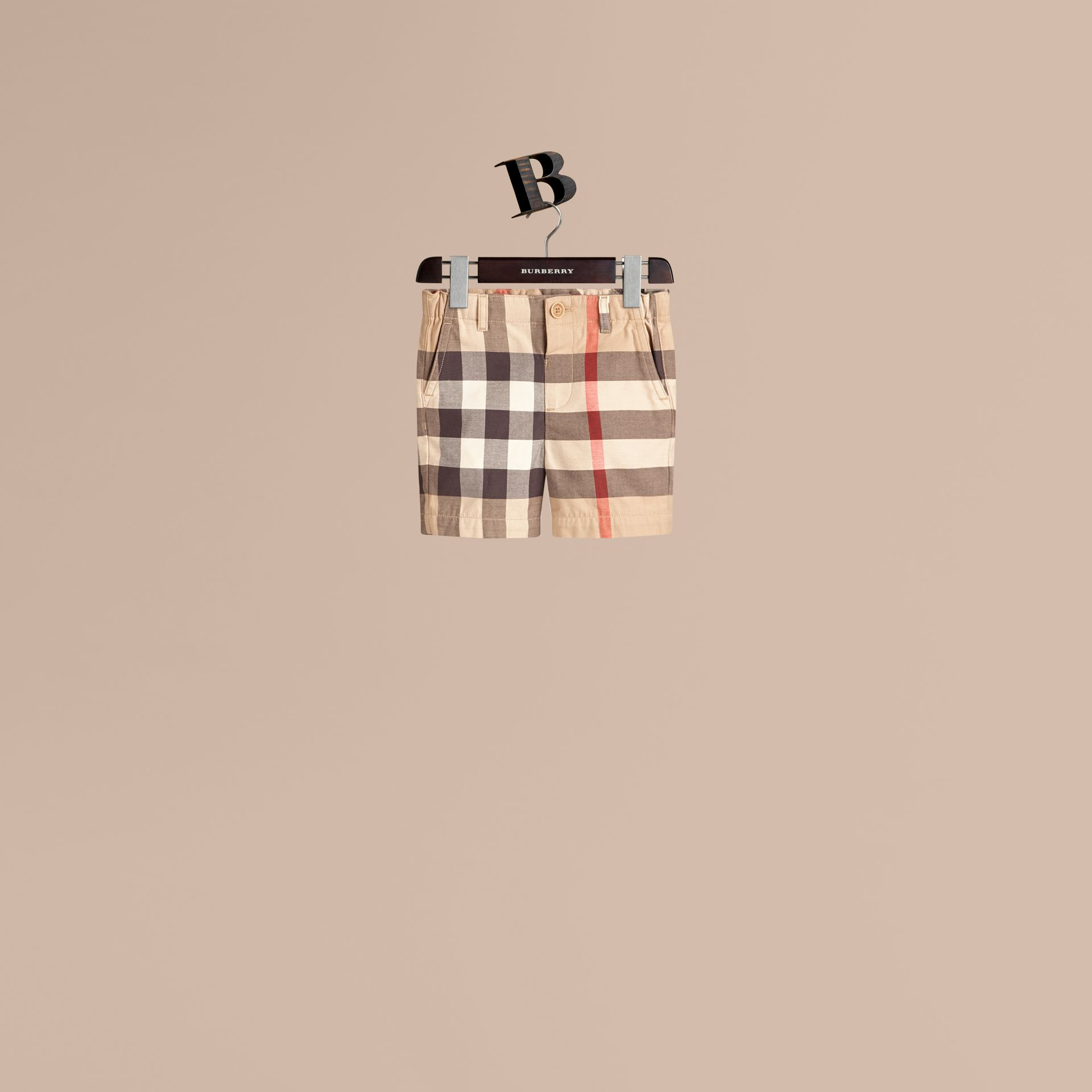 Check Cotton Chino Shorts. - Boy | Burberry Hong Kong - gallery image 1