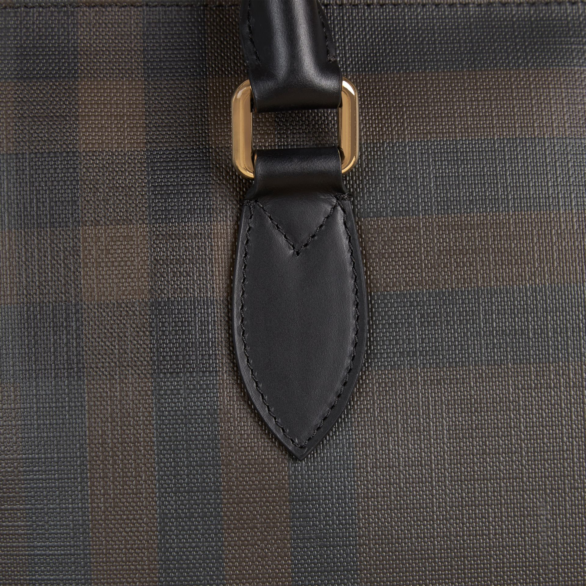 London Check Tote Bag in Black/chocolate - Men | Burberry United Kingdom - gallery image 6