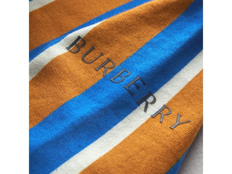 Striped Cotton Jersey Rugby Shirt in Bright Ochre Yellow - Boy | Burberry - cell image 1