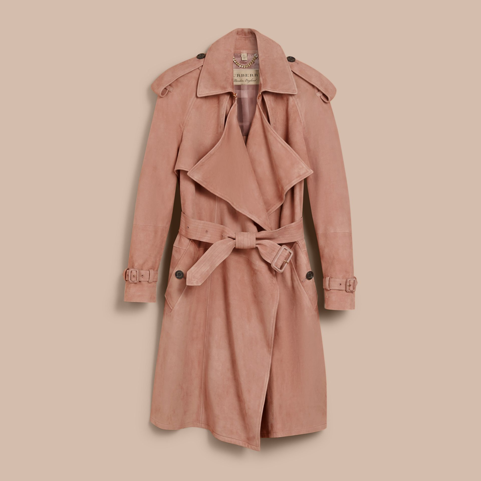 Suede Wrap Trench Coat - Women | Burberry - gallery image 4