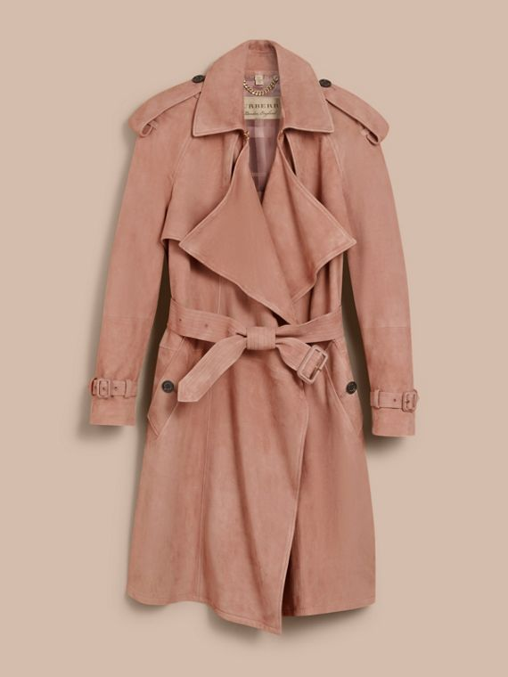 Suede Wrap Trench Coat - Women | Burberry - cell image 3