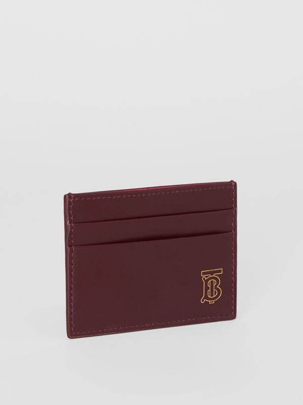 Monogram Motif Leather Card Case in Oxblood - Men | Burberry United States - cell image 3