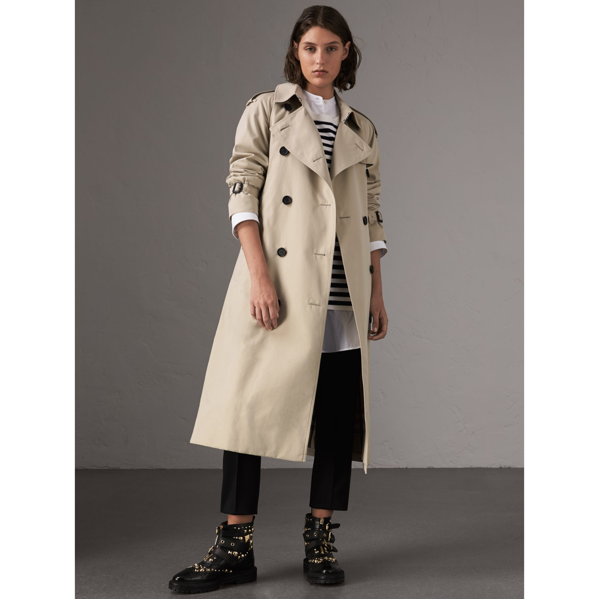 The Westminster – Extra-long Trench Coat in Stone - Women | Burberry - gallery image 0