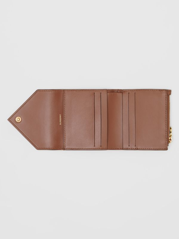 Vintage Check and Grainy Leather Folding Wallet in Tan - Women | Burberry - cell image 2