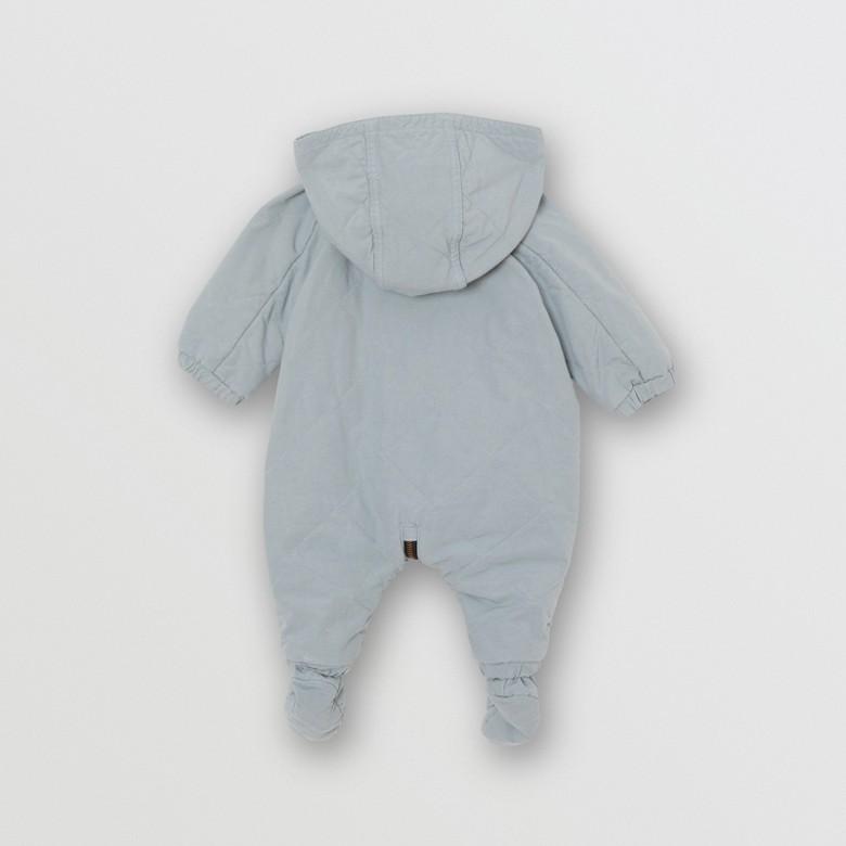 Burberry - Mono enterizo en algodón acolchado a rombos - 4