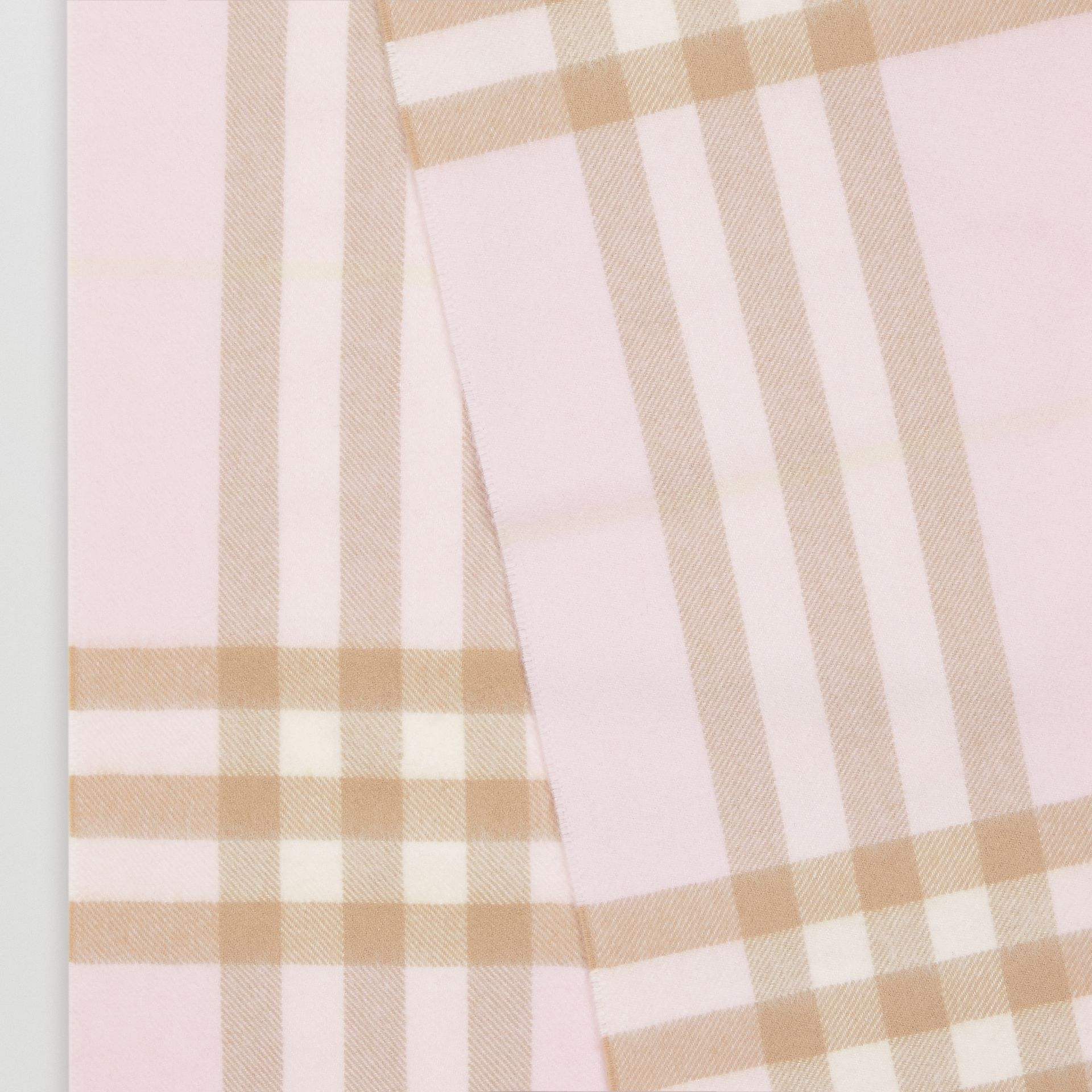 The Classic Check Cashmere Scarf in Alabaster | Burberry - gallery image 8
