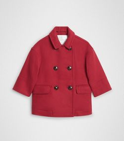 8a2fe815a Double-faced Wool Pea Coat in Windsor Red