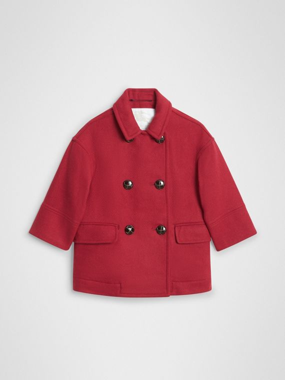 Double-faced Wool Pea Coat in Windsor Red