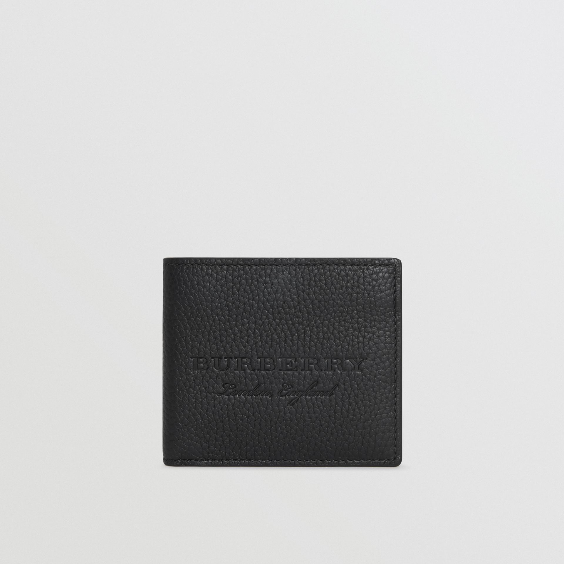 Embossed Leather Bifold Wallet in Black - Men | Burberry - gallery image 2