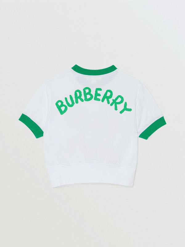 Cartoon Print Cotton T-shirt in White - Girl | Burberry - cell image 3