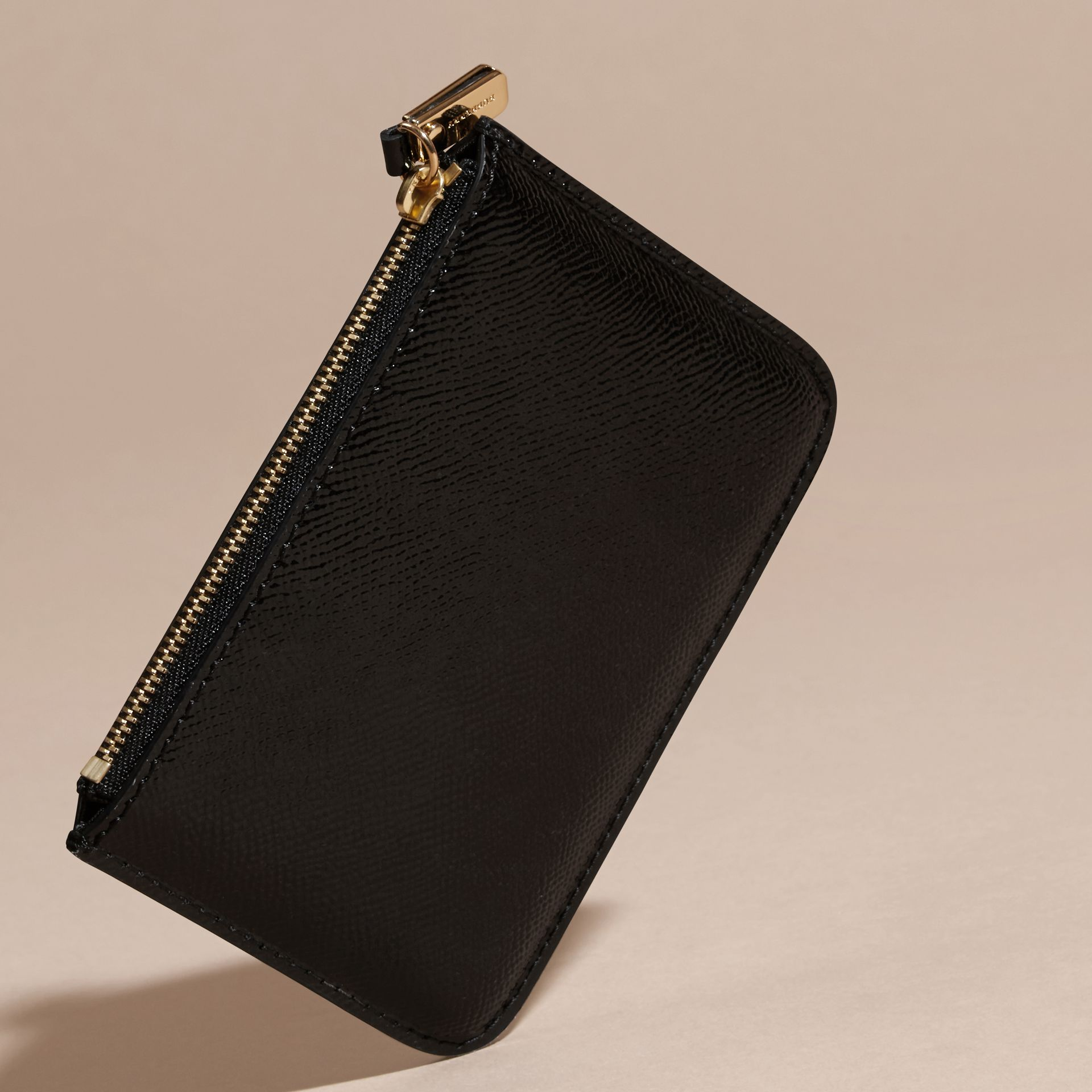 Black Patent London Leather Pouch - gallery image 4
