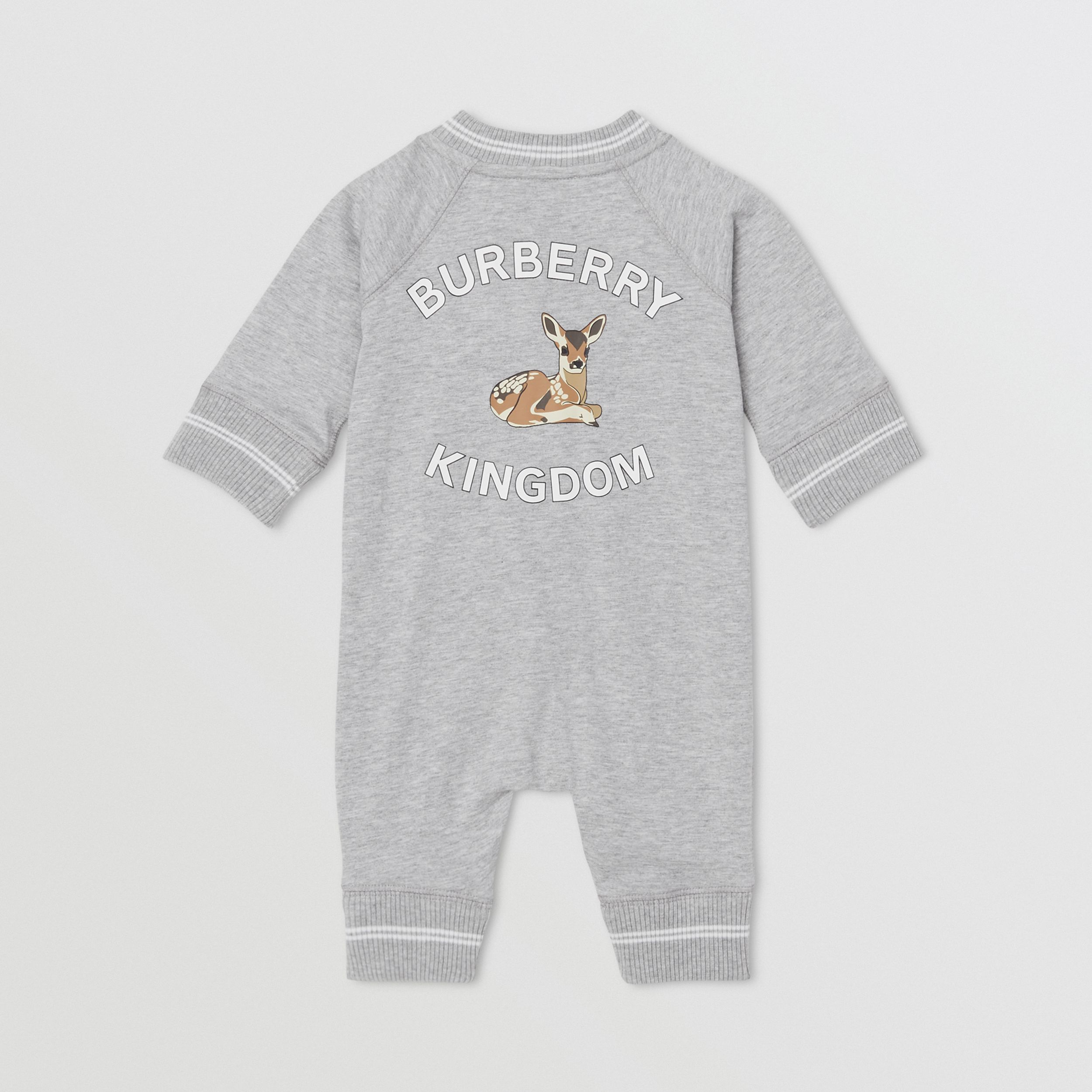 Logo and Deer Motif Cotton Jumpsuit - Children | Burberry United States - 4