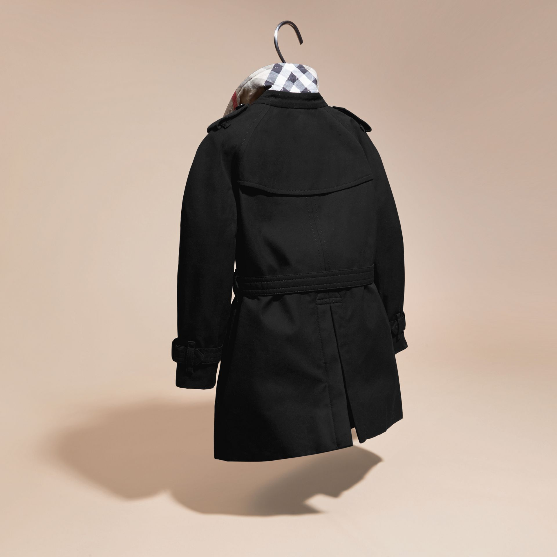 Black The Wiltshire – Heritage Trench Coat Black - gallery image 4