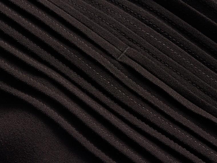 Sleeveless Ruffle Trim Crepe Dress - cell image 1