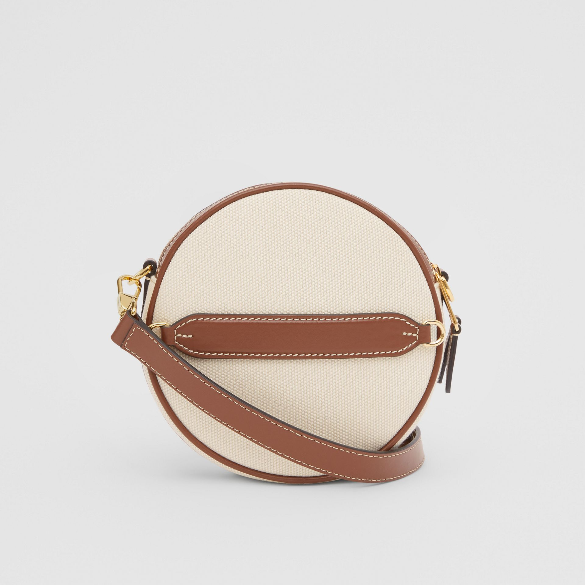 Logo Graphic Canvas and Leather Louise Bag in Natural - Women | Burberry United States - gallery image 7