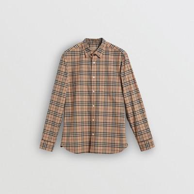 Burberry - Chemise en coton à motif check - 4