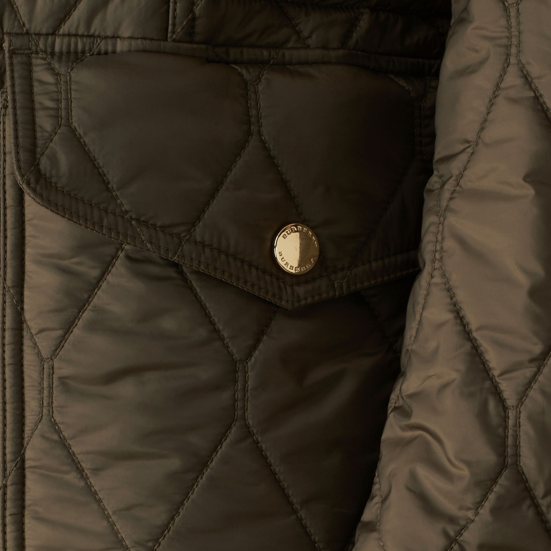 Oregano Diamond Quilted Field Jacket Oregano - gallery image 2