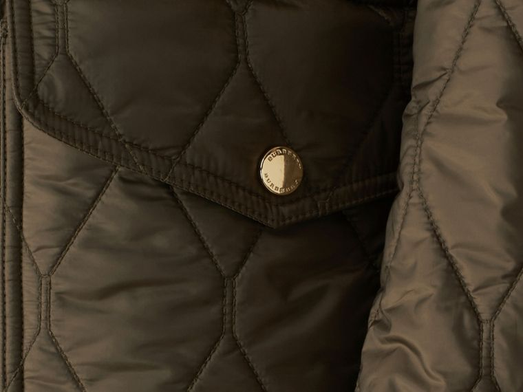 Oregano Diamond Quilted Field Jacket Oregano - cell image 1