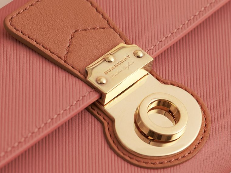 Two-tone Trench Leather Continental Wallet Ash Rose/pale Clementine - cell image 1