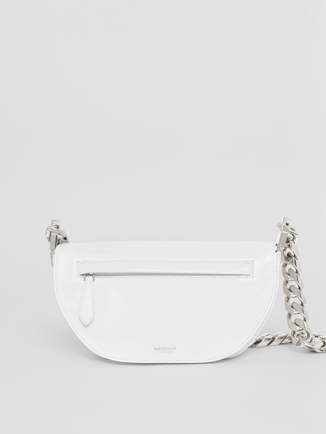 Small Lambskin Olympia Bag in Optic White/black