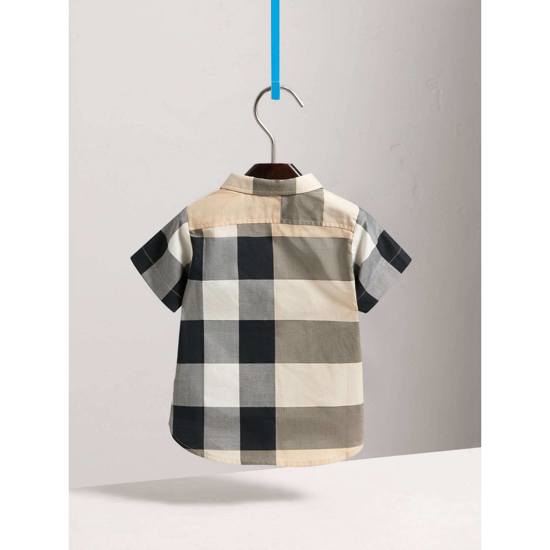 Short-sleeve Check Cotton Shirt in New Classic - Children | Burberry - gallery image 3