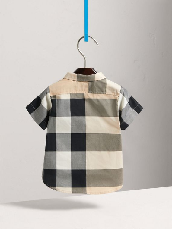 Short-sleeve Check Cotton Shirt in New Classic - Children | Burberry United Kingdom - cell image 3