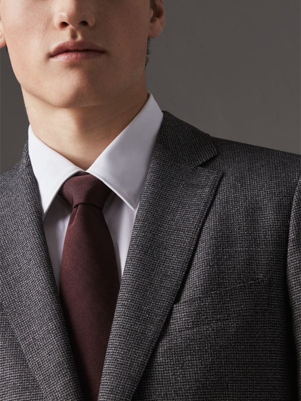 Modern Cut Silk Twill Tie in Deep Claret - Men | Burberry - cell image 2