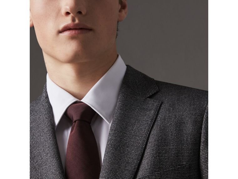 Modern Cut Silk Twill Tie in Deep Claret - Men | Burberry United Kingdom - cell image 2