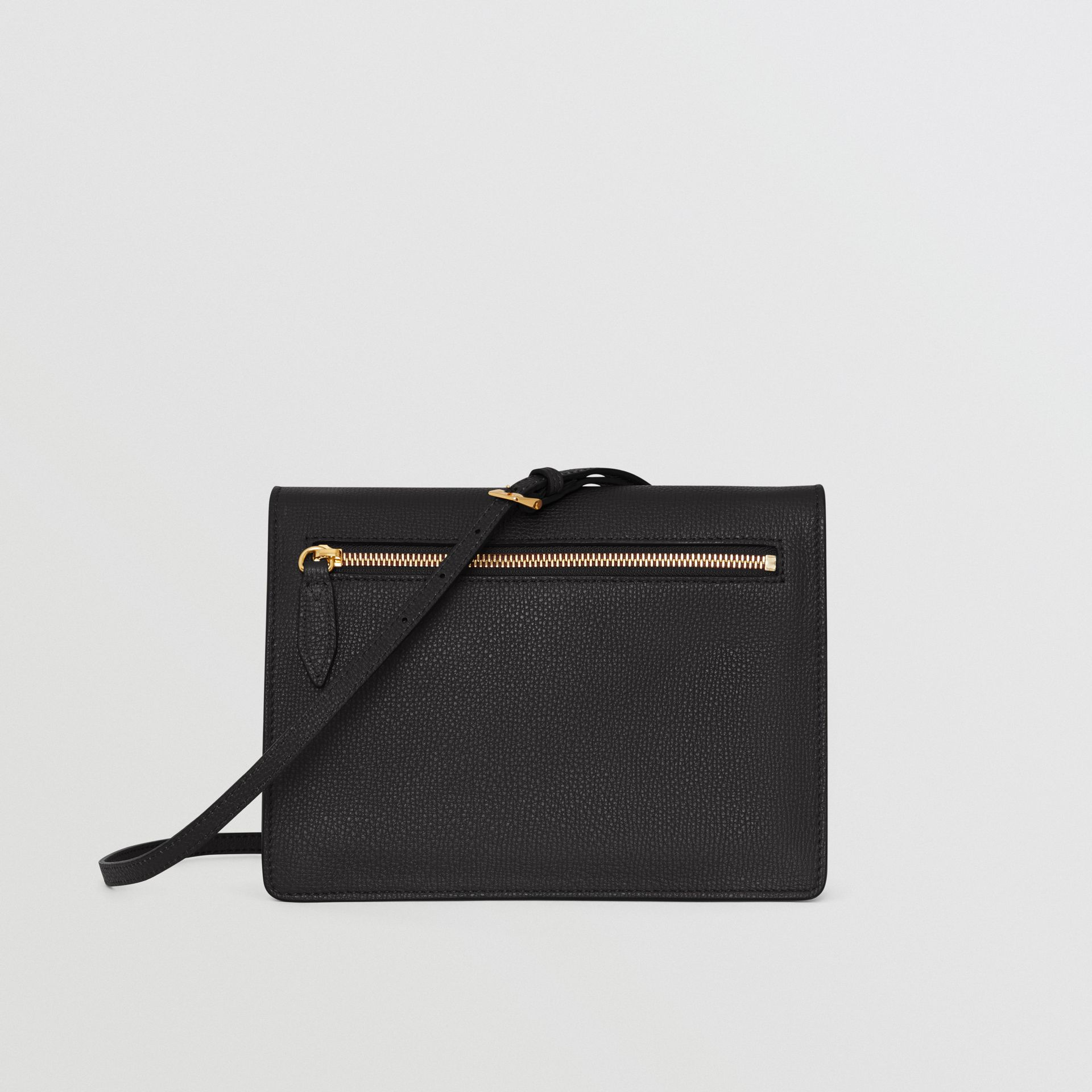 Small Leather Crossbody Bag in Black - Women | Burberry United Kingdom - gallery image 7