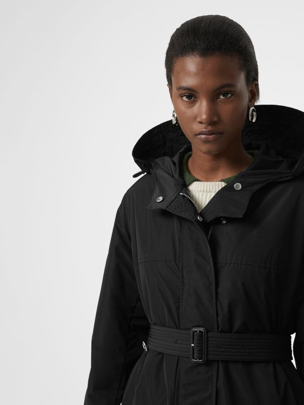 Shape-memory Taffeta Hooded Parka in Black - Women | Burberry Australia - cell image 3