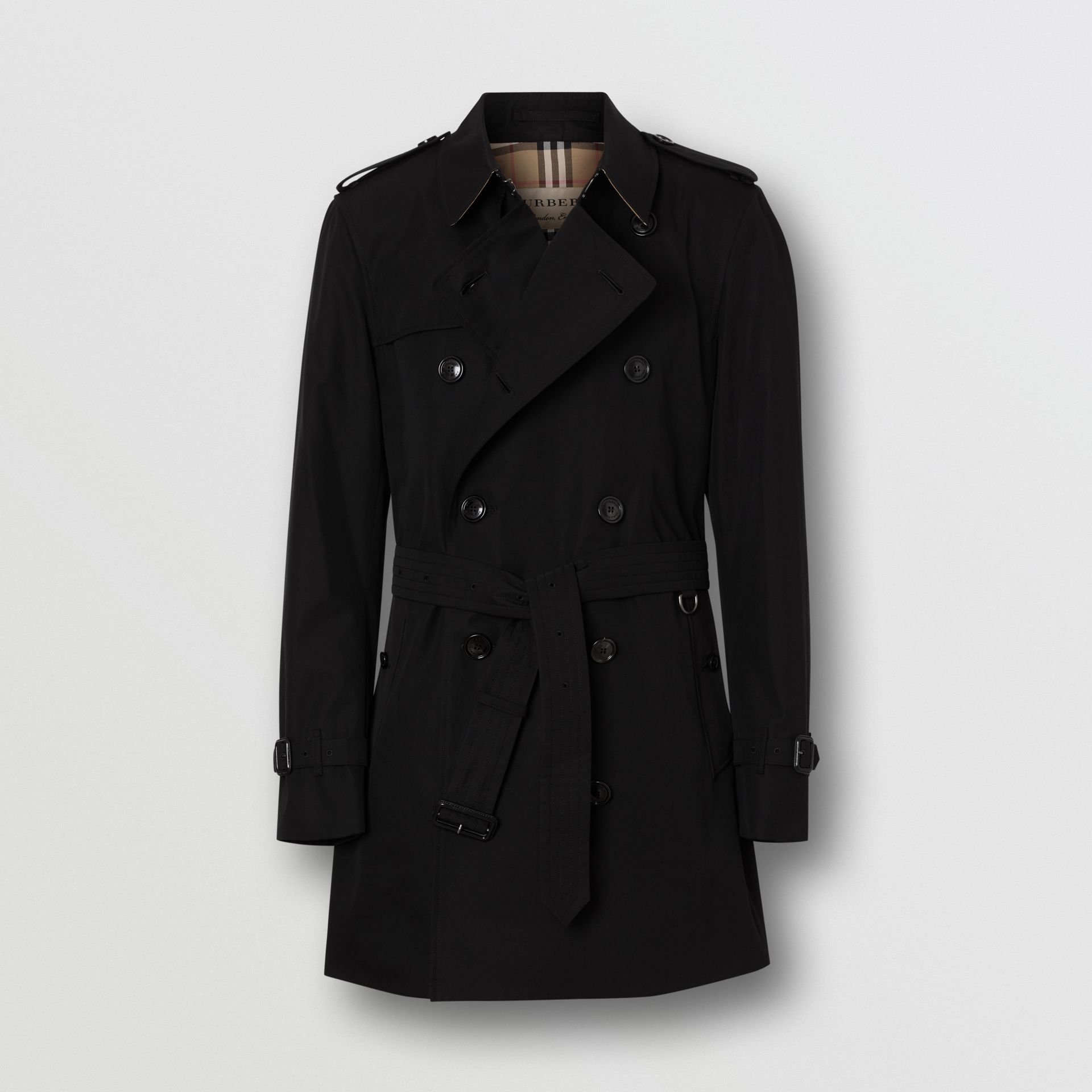 Short Chelsea Fit Trench Coat in Black - Men | Burberry - gallery image 3