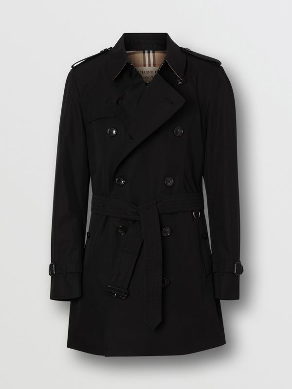 Short Chelsea Fit Trench Coat in Black - Men | Burberry - cell image 3