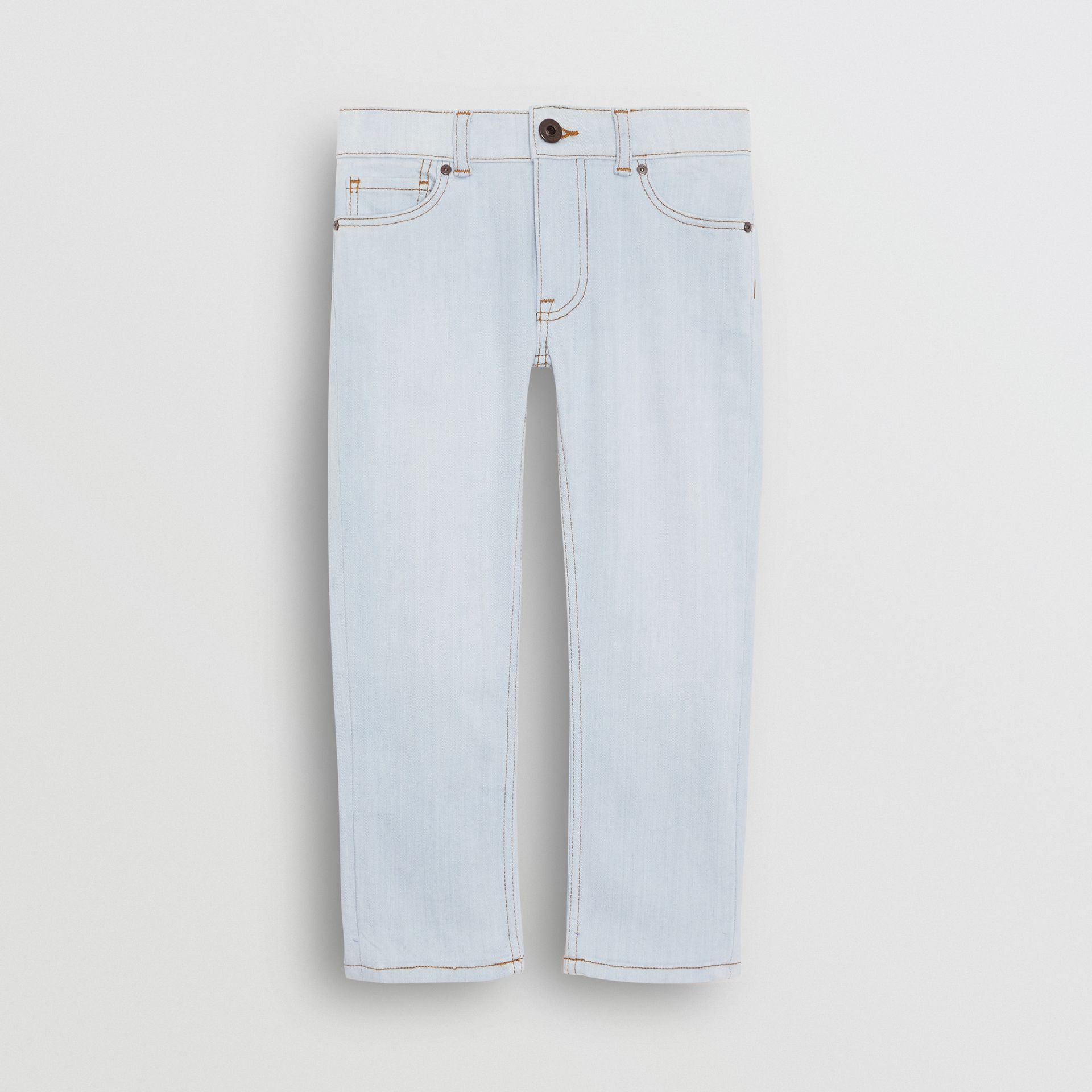 Skinny Fit Stretch Jeans in Light Blue - Boy | Burberry - gallery image 0