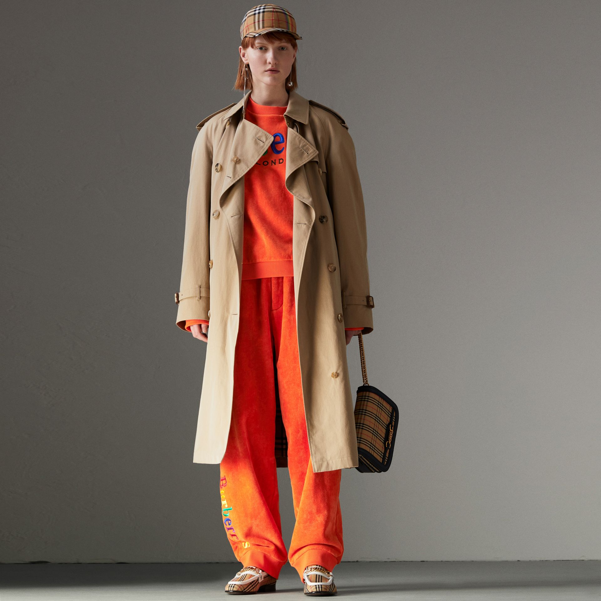 Rainbow Tropical Gabardine Trench Coat in Honey - Women | Burberry - gallery image 0