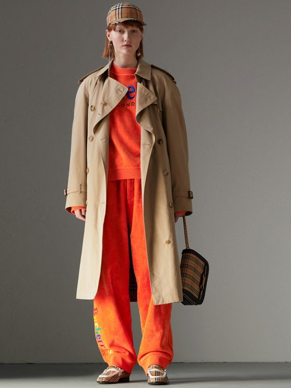 Trench coat de gabardine tropical (Mel)