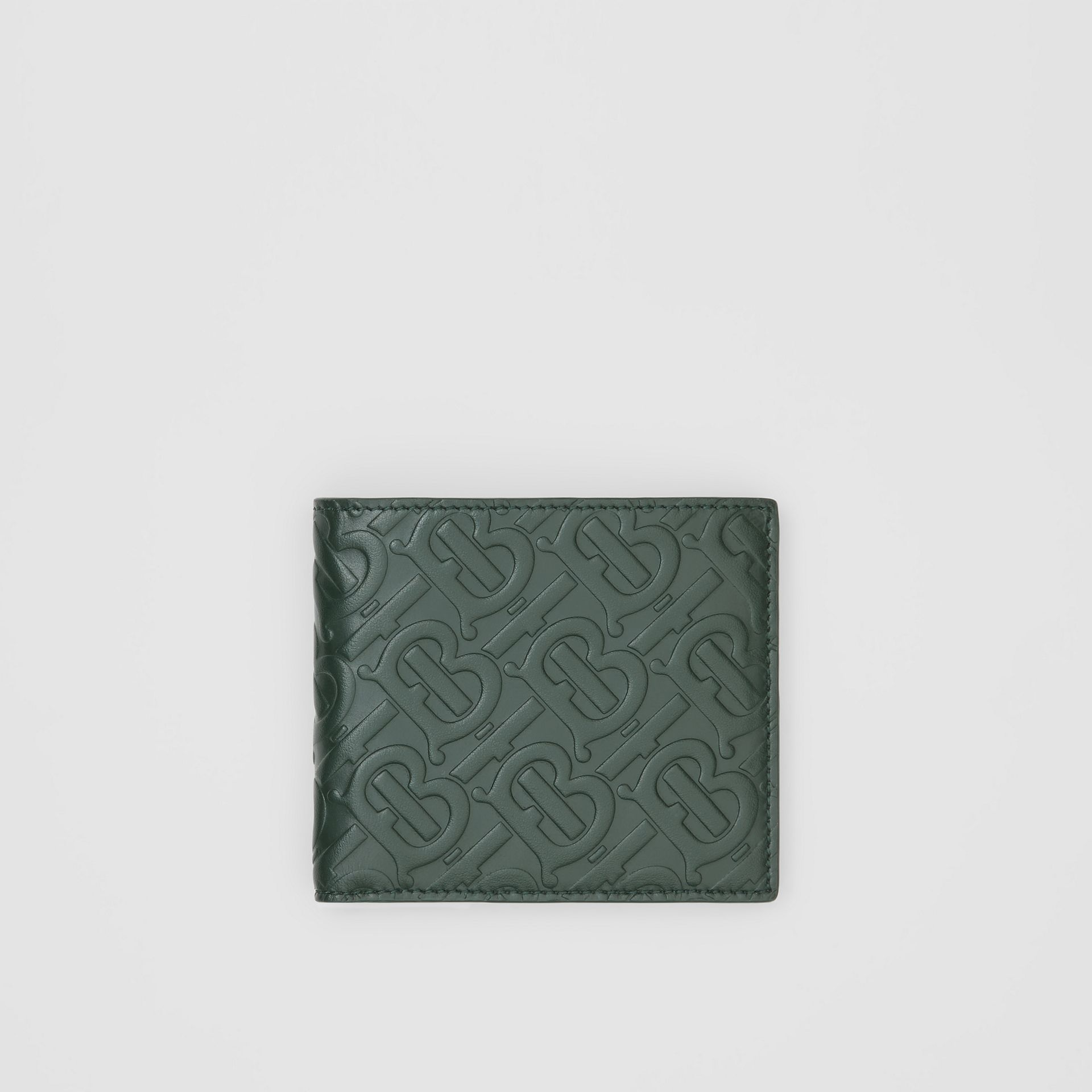 Monogram Leather International Bifold Wallet in Dark Pine Green - Men | Burberry - gallery image 0