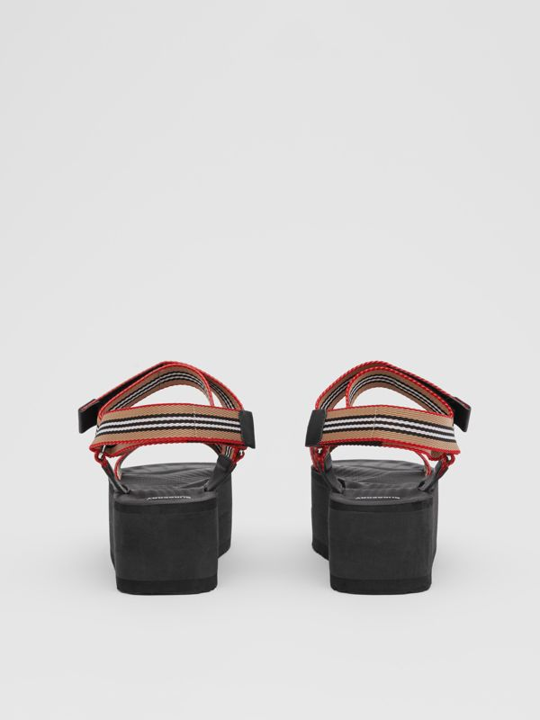 Icon Stripe Sandals in Archive Beige - Women | Burberry United Kingdom - cell image 3